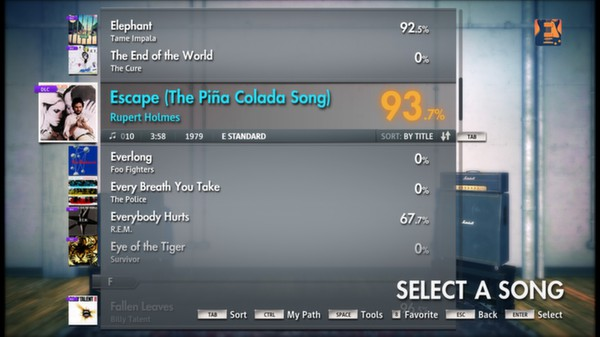 "Скриншот №1 к Rocksmith® 2014 – Rupert Holmes - ""Escape The Piña Colada Song"""