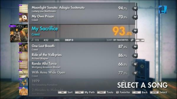 "Скриншот №1 к Rocksmith® 2014 – Creed - ""My Sacrifice"""