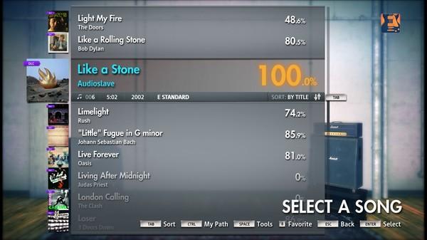 "Скриншот №1 к Rocksmith® 2014 – Audioslave - ""Like a Stone"""