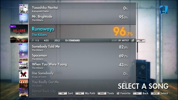 "Скриншот №5 к Rocksmith® 2014 – The Killers - ""Runaways"""