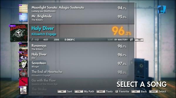 "Скриншот №3 к Rocksmith® 2014 – Killswitch Engage - ""Holy Diver"""