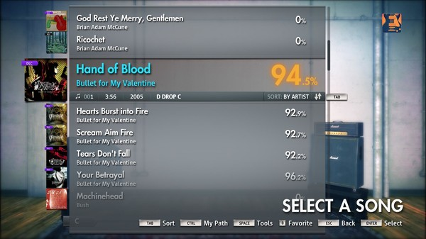 "Скриншот №5 к Rocksmith® 2014 – Bullet For My Valentine - ""Hand Of Blood"""