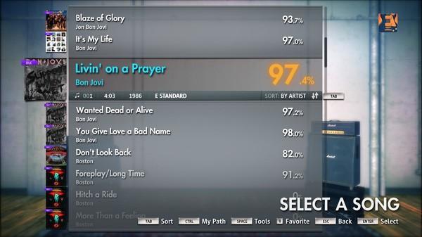 "Скриншот №1 к Rocksmith® 2014 – Bon Jovi - ""Livin On A Prayer"""