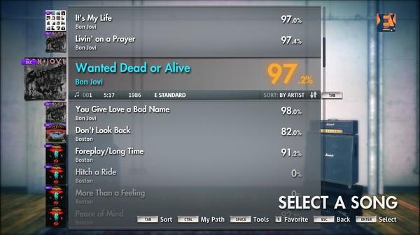 "Скриншот №4 к Rocksmith® 2014 – Bon Jovi - ""Wanted Dead Or Alive"""