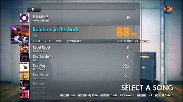 "Скриншот №1 к Rocksmith® 2014 – Dio - ""Rainbow in the Dark"""