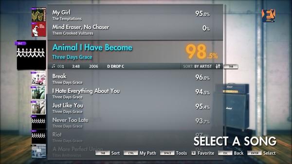 "Скриншот №1 к Rocksmith® 2014 – Three Days Grace - ""Animal I Have Become"""
