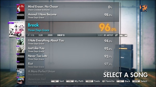 "Скриншот №1 к Rocksmith® 2014 – Three Days Grace - ""Break"""