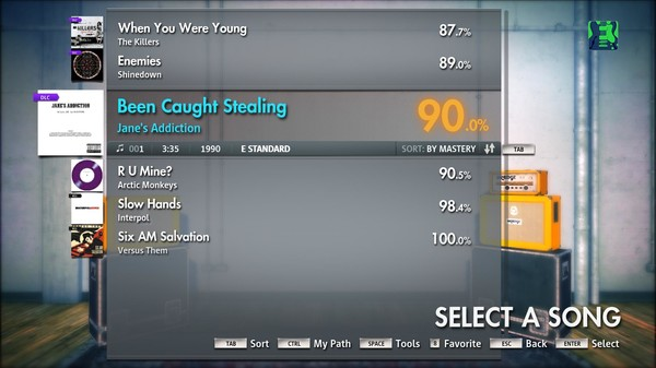 "Скриншот №3 к Rocksmith® 2014 – Janes Addiction - ""Been Caught Stealing"""