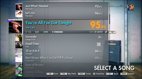 "Скриншот №2 к Rocksmith® 2014 – The Cars - ""Youre All Ive Got Tonight"""