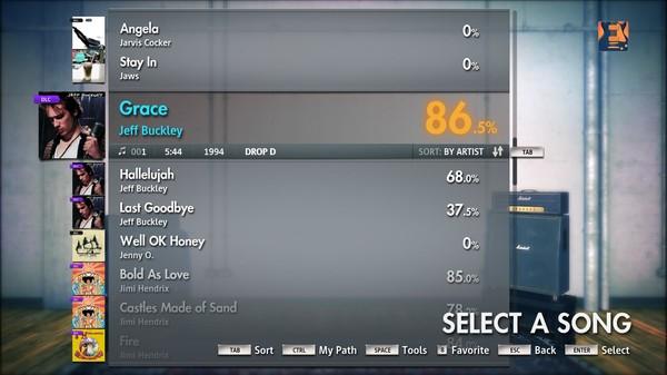 "Скриншот №1 к Rocksmith® 2014 – Jeff Buckley - ""Grace"""