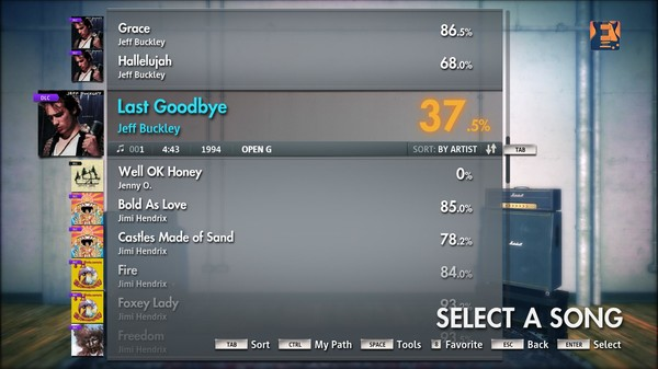 "Скриншот №1 к Rocksmith® 2014 – Jeff Buckley - ""Last Goodbye"""