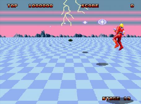 скриншот Space Harrier II 1