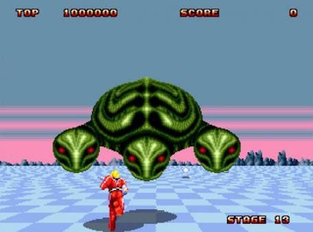 скриншот Space Harrier II 2