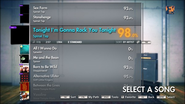 "Скриншот №1 к Rocksmith® 2014 – Spinal Tap - ""Tonight Im Gonna Rock You Tonight"""