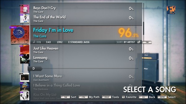 "Скриншот №5 к Rocksmith® 2014 – The Cure - ""Friday Im In Love"""