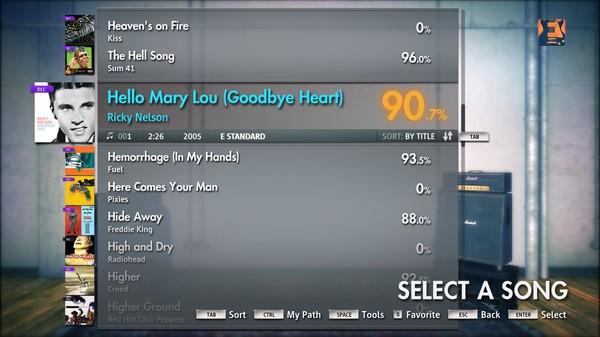 """Скриншот №2 к Rocksmith® 2014 – Ricky Nelson - """"Hello Mary Lou Goodbye Heart"""""""