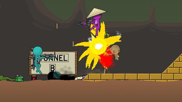 Скриншот №2 к Boring Man - Online Tactical Stickman Combat
