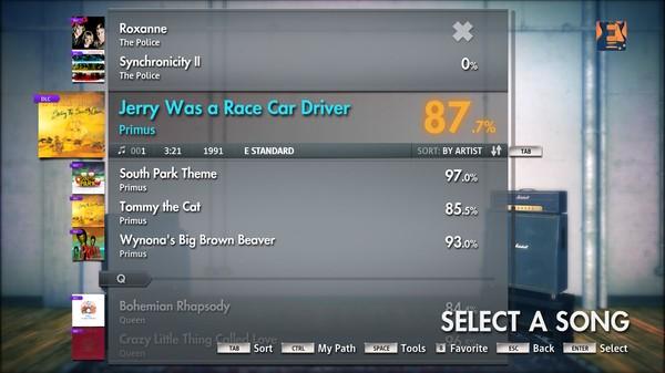 "Скриншот №4 к Rocksmith® 2014 – Primus - ""Jerry Was A Race Car Driver"""