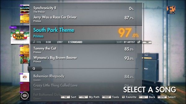 "Скриншот №1 к Rocksmith® 2014 – Primus - ""South Park Theme"""