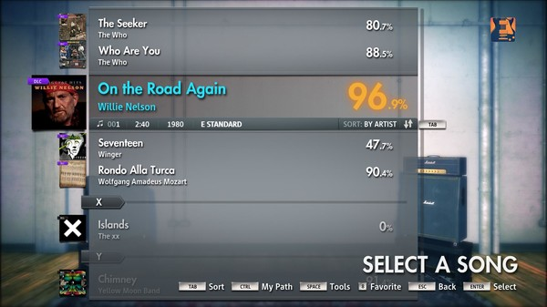 """Скриншот №1 к Rocksmith® 2014 – Willie Nelson - """"On the Road Again"""""""