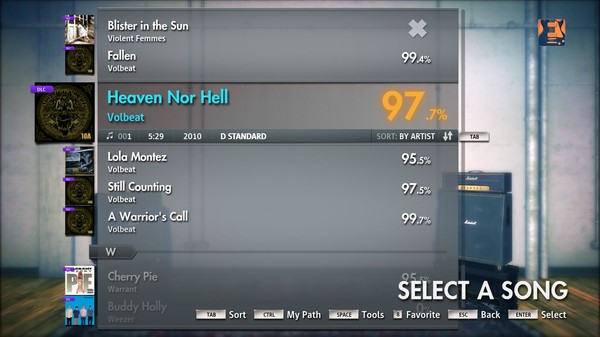 "Скриншот №5 к Rocksmith® 2014 – Volbeat - ""Heaven Nor Hell"""