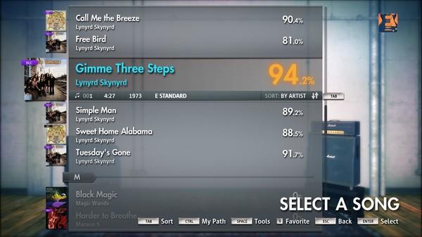"Скриншот №1 к Rocksmith® 2014 – Lynyrd Skynyrd - ""Gimme Three Steps"""