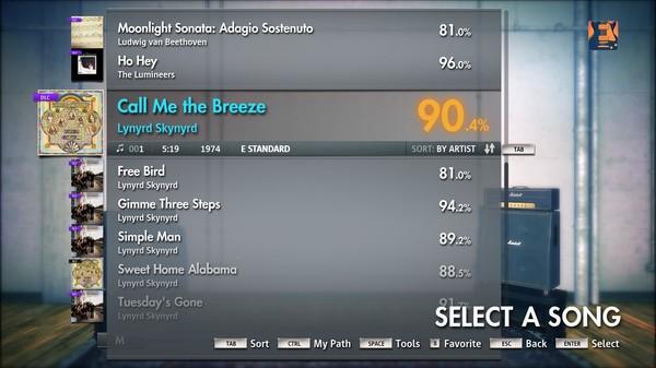 "Скриншот №4 к Rocksmith® 2014 – Lynyrd Skynyrd - ""Call Me The Breeze"""
