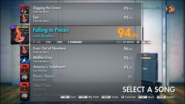 "Скриншот №2 к Rocksmith® 2014 – Faith No More - ""Falling to Pieces"""