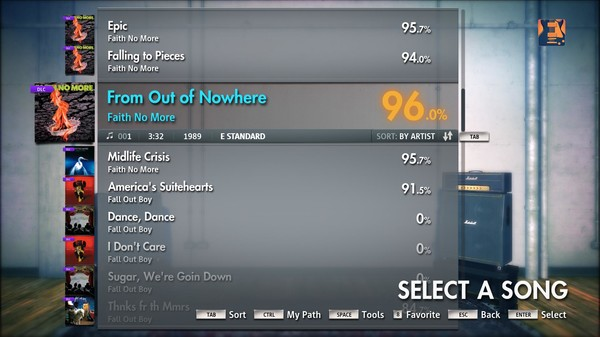 """Скриншот №3 к Rocksmith® 2014 – Faith No More - """"From Out of Nowhere"""""""