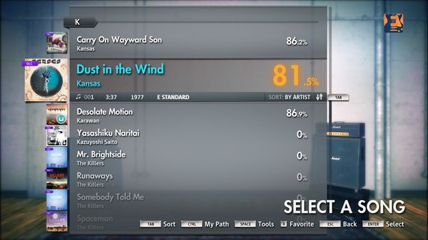 "Скриншот №1 к Rocksmith® 2014 – Kansas - ""Dust In the Wind"""