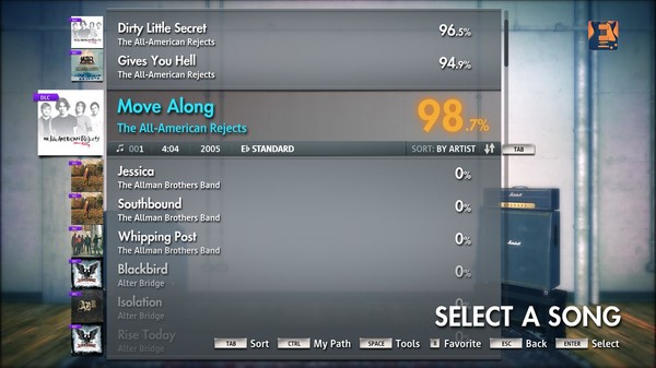 "Скриншот №1 к Rocksmith® 2014 – The All-American Rejects - ""Move Along"""