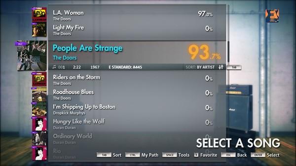 """Скриншот №2 к Rocksmith® 2014 – The Doors - """"People Are Strange"""""""