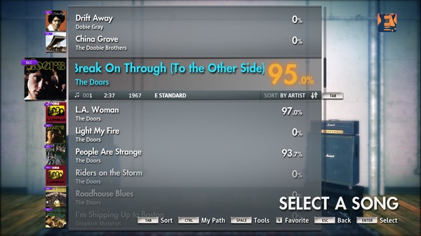 """Скриншот №1 к Rocksmith® 2014 – The Doors - """"Break on Through to the Other Side"""""""
