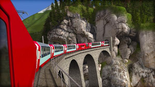 скриншот Train Simulator: Albula Line: St Moritz - Thusis  Route Add-On 0