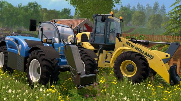 Скриншот №1 к Farming Simulator 15 - New Holland Loader Pack