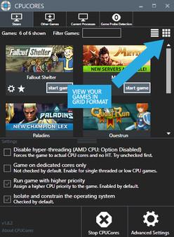 Скриншот №1 к CPUCores  Maximize Your FPS