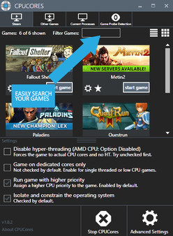 Скриншот №2 к CPUCores  Maximize Your FPS