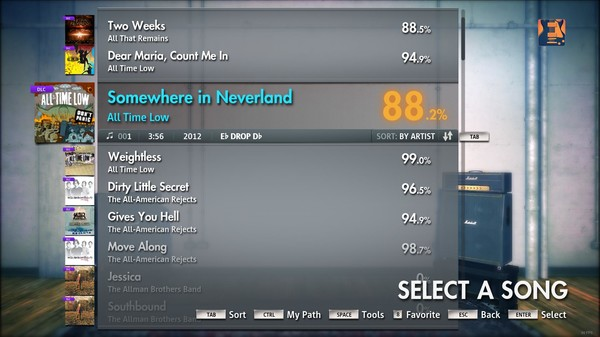 """Скриншот №2 к Rocksmith® 2014 – All Time Low - """"Somewhere in Neverland"""""""