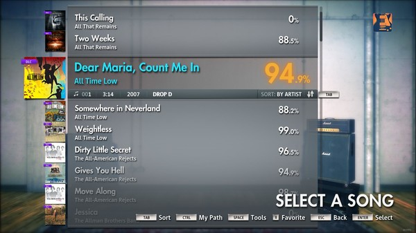 """Скриншот №5 к Rocksmith® 2014 – All Time Low - """"Dear Maria Count Me In"""""""