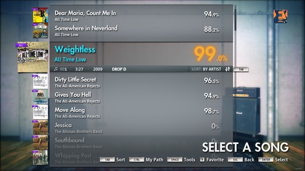 "Скриншот №4 к Rocksmith® 2014 – All Time Low - ""Weightless"""