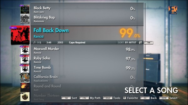 "Скриншот №3 к Rocksmith® 2014 – Rancid - ""Fall Back Down"""