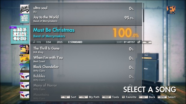 """Скриншот №2 к Rocksmith® 2014 – Band of Merrymakers - """"Must Be Christmas"""""""
