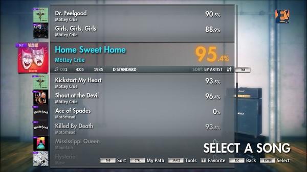 "Скриншот №1 к Rocksmith® 2014 – Mötley Crüe - ""Home Sweet Home"""