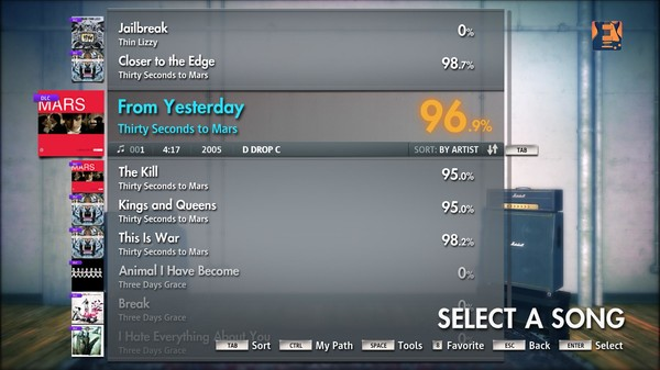 """Скриншот №4 к Rocksmith® 2014 – Thirty Seconds to Mars - """"From Yesterday"""""""