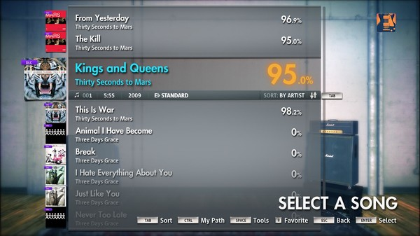 """Скриншот №3 к Rocksmith® 2014 – Thirty Seconds to Mars - """"Kings and Queens"""""""