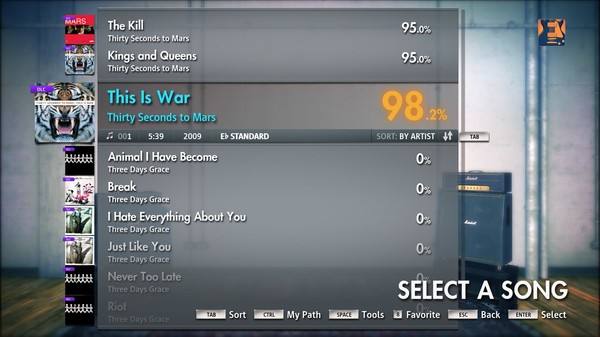 """Скриншот №5 к Rocksmith® 2014 – Thirty Seconds to Mars - """"This Is War"""""""