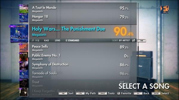 "Скриншот №3 к Rocksmith® 2014 – Megadeth - ""Holy Wars... The Punishment Due"""