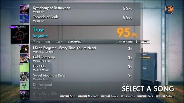 """Скриншот №4 к Rocksmith® 2014 – Megadeth - """"Trust"""""""