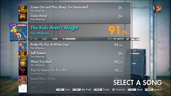 """Скриншот №5 к Rocksmith® 2014 – The Offspring - """"The Kids Arent Alright"""""""