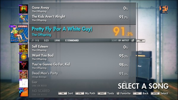 """Скриншот №5 к Rocksmith® 2014 – The Offspring - """"Pretty Fly For A White Guy"""""""